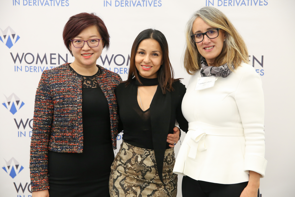 WIND Board Members Ying Cao, Lona Mozumder and Marisol Collazo at the WIND Leadership event in 2019 in NYC